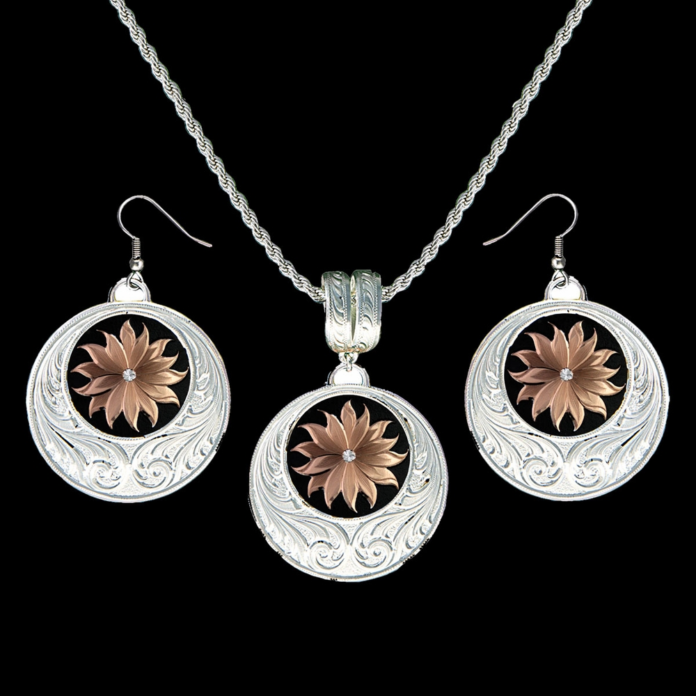 Rose Gold Sun Jewelry Set