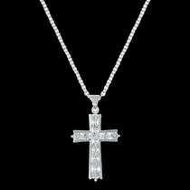Round Brilliance Cross Necklace (NC3251)