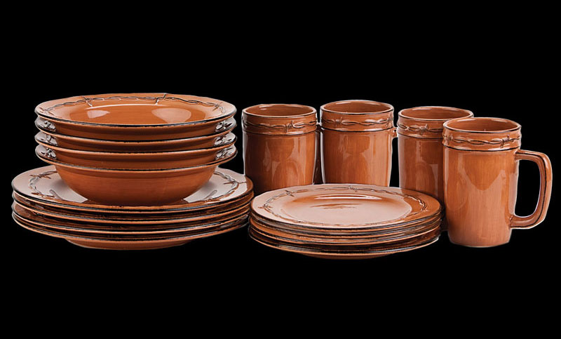 Rustic Ranch Dinnerware Set By Montana Silversmiths