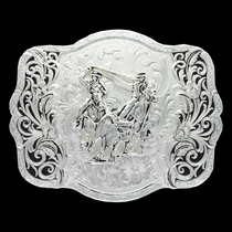 Scalloped Trellis Buckle with Team Roper (30610-841)