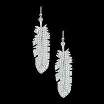 Shimmering Feather Earrings (ER3374CZ)