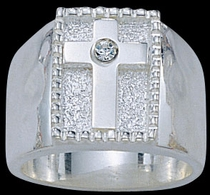 Silver Cross Ring by Montana Silversmiths