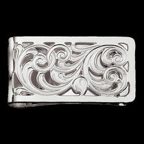 Silver Filigree Square Money Clip (MCL1)