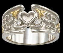 Silver Heart Ring by Montana Silversmiths