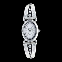 Silver Pin Points Expansion Band Watch (WCH2876D)