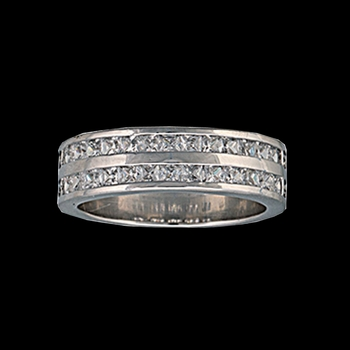 Size 6 - Two Trails Channel Set Band Ring (RG63CZ-6)