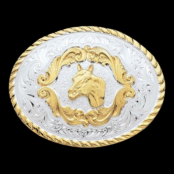 Small Horse Head Western Belt Buckle (5000HH)
