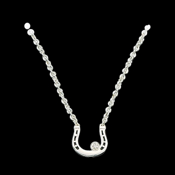 Small Horseshoe with Crystal Necklace (NC61132)