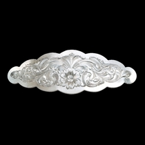 Small Scalloped Montana Silver Barrette (BA1211)