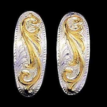 Small Scroll Design Cuff Earrings (ER360SM)
