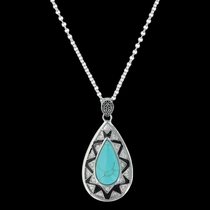 Southern Chevron Teardrop Necklace (NC3401)