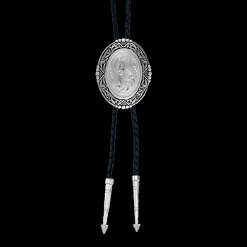Southwestern Rancher's Bolo Tie in Antiqued Silver (BT46)