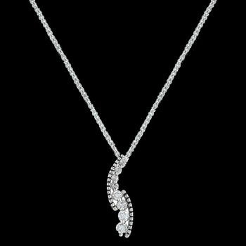 Sparkling Pathway Necklace (NC3191)