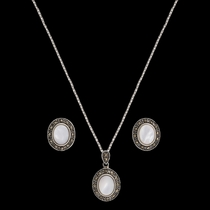 Sparks Will Fly Cowgirl Noir Marcasite Jewelry Set (JS2531)