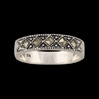 Sparks Will Fly Marcasite Night Wanderer Band Ring