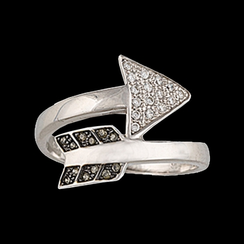 Sparks Will Fly Twisted Arrow Ring
