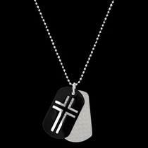 Stainless Steel Cross Token Necklace (NC2491)