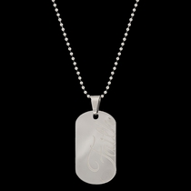 Stainless Steel Faith Token Necklace (NC2485)