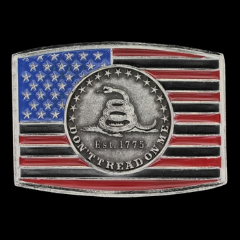 Star and Stripes Gadsen Attitude Buckle (A602S)