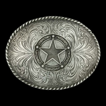 Star Concho Classic Antiqued Attitude Belt Buckle (61034)