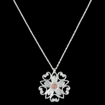 Star Flower Love Necklace (NC2619RG)