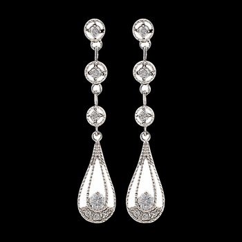Star Lights Three Tiered Raindrop Earrings (ER2765)