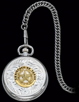 State of Texas Pocket Watch by Montana Silversmiths