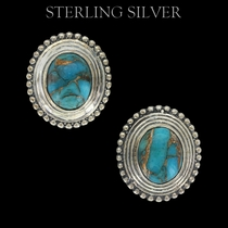 Sterling Lane Copper Earth Turquoise Earrings (SLER010)