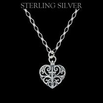 Sterling Lane Heart Full of Faith Cross Necklace (SLNC004)