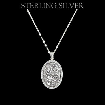 Sterling Lane Wild Rose Vignette Necklace (SLNC005)