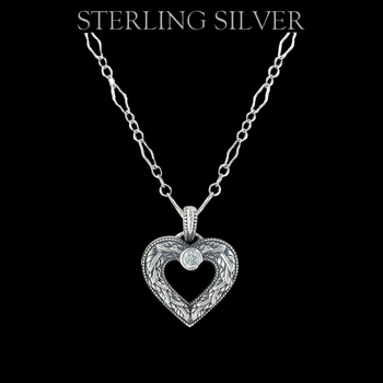 Sterling Lane Wilderness Engraved Heart Necklace (SLNC003)