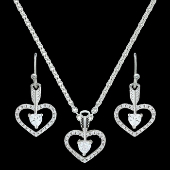 Straight to the Heart Arrow Jewelry Set (JS3198)