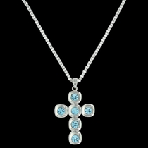 Sunny Skies Cross Necklace Attitude Jewelry (ANC3462)