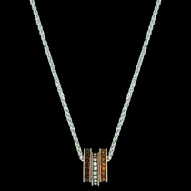 Sunset Lights Triple Ring Necklace (NC3437)