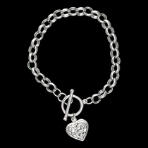 Swept Away Heart Charm Bracelet (BC1485)