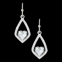 Swinging Heart Earrings (ER3032)