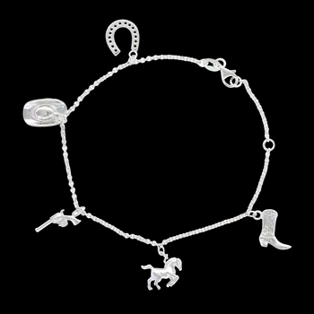Symbols of the West Charm Bracelet (BC3380)
