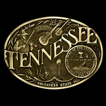 Tennessee State Heritage Attitude Buckle (60811TNC)