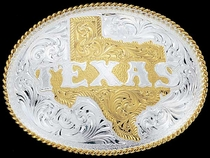 Texas Belt Buckle - Montana Silversmiths