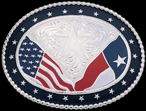 Texas Glory Belt Buckle by Montana Silversmiths