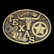 Texas Rancher State Heritage Attitude Buckle (60798P)