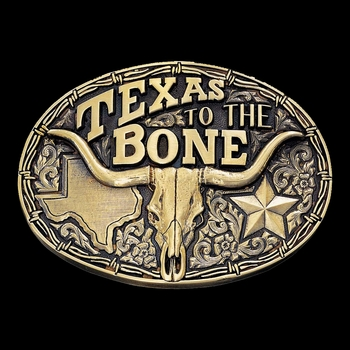 Texas to the Bone State Heritage Attitude Buckle (60798C)
