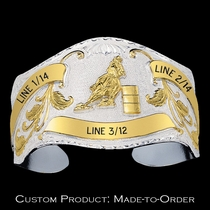 The Lockhart Two Tone Trophy Cuff Bracelet BC23