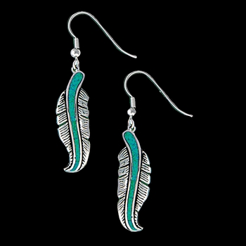 The Storyteller Feather Dangle Earrings (ER1320)