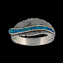 The Storyteller Feather Ring