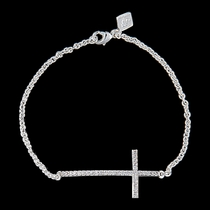 The Straight Path Cross Bracelet in Bright (BC2015CZ)