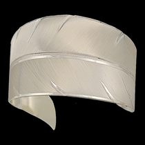 To Fly with Strength and Grace Feather Cuff Bracelet (BC2319)