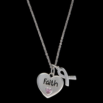 Tough Enough to Wear Pink Cowgirl Heart Charm Necklace (NC2048)
