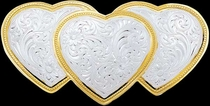 Triple Hearts Buckle 1