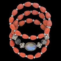 Triple Sunset Strands Bracelet Attitude Jewelry (ABC3466)